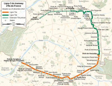 Le tramway paris - Plan du peripherique parisien les portes ...