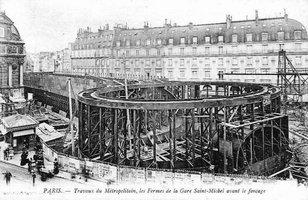 Travaux de construction du m tropolitain de paris - Saint michel paris metro ...