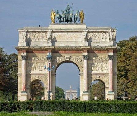 L 39 arc du carrousel - Les jardins du louvre ...