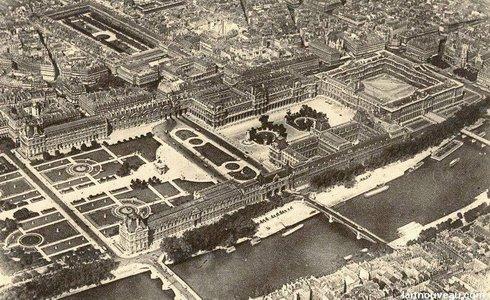 Le louvre en 1900 - Les jardins du louvre ...