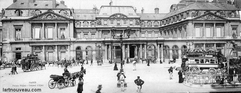 La Place du Palais Royal en 1900