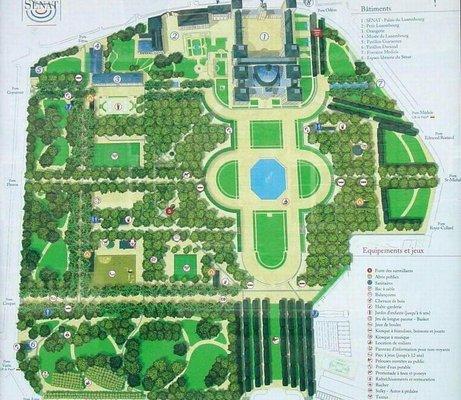 Les plans du jardin du luxembourg paris 6e for Plan jardin