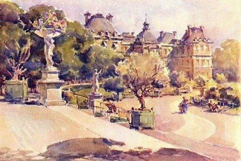 tableaux sur le jardin du luxembourg