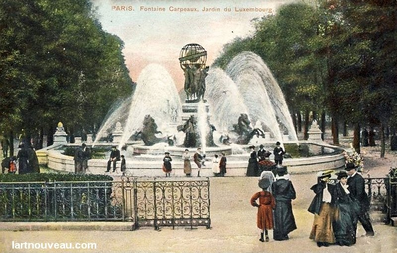 Gc5h5me la fontaine carpeaux traditional cache in le de for Jardin luxembourg horaires
