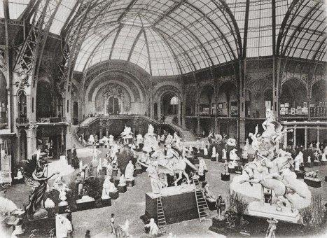 Int rieur du grand palais en 1900 for Interieur 1900