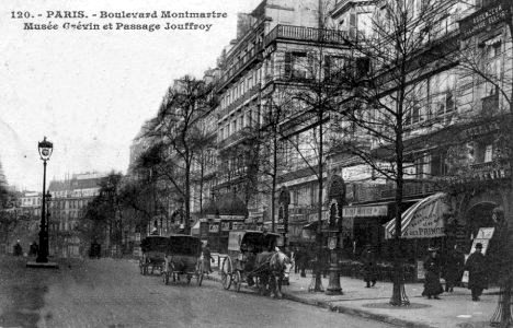 le boulevard montmartre en 1900. Black Bedroom Furniture Sets. Home Design Ideas