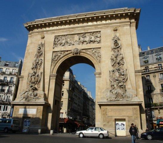 La porte saint denis paris - L encadrure de la porte ...
