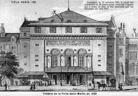 Le boulevard saint martin en 1900 - Theatre porte saint martin ...