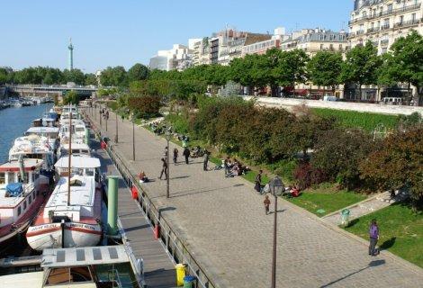 Le jardin de l 39 arsenal paris - Port de l arsenal bastille ...