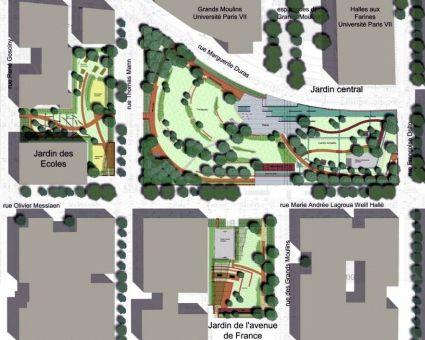 Les jardins des grands moulins abb pierre for Plan de moulins