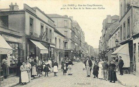 Restaurant Le  Rue Des Cinq Diamants Paris