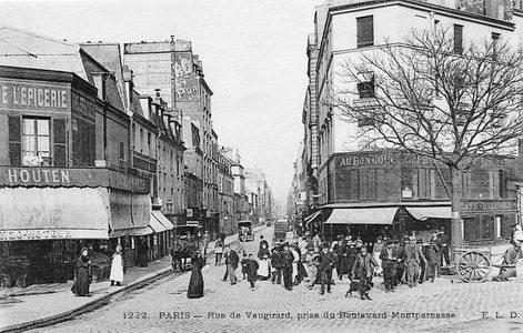 le boulevard du montparnasse en 1900. Black Bedroom Furniture Sets. Home Design Ideas