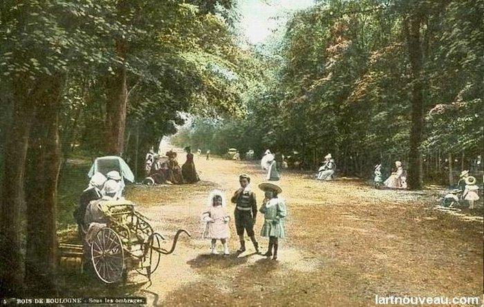 Le bois de Boulogne dans les année 1900